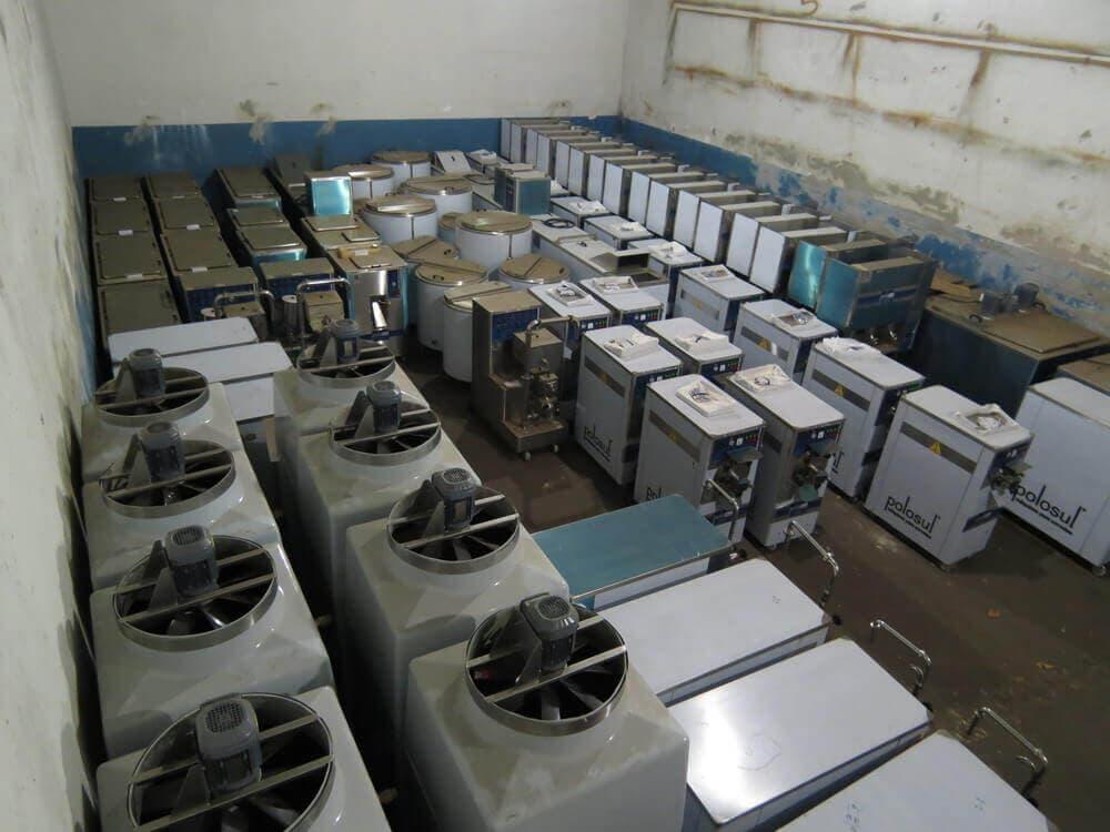 Depósito de máquinas de sorvete
