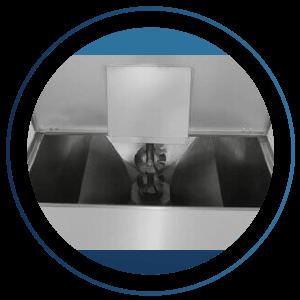 Vista interna do triturador de açaí PSTR 600